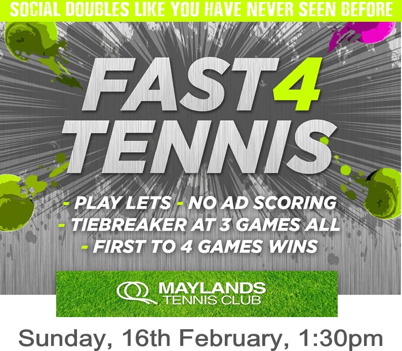 Fast 4 Tennis at Maylands Tennis Club, February 16 2020, 1:30 PM